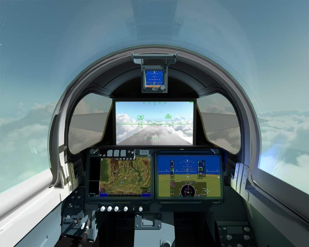 L'abitacolo del jet supersonico X-59