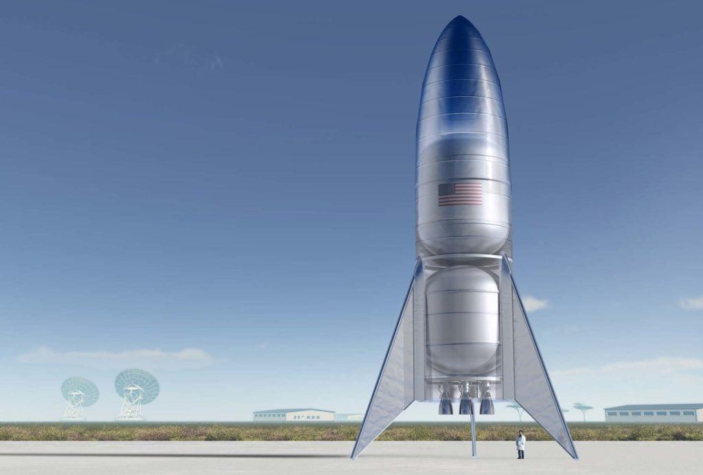 SpaceX Starship in tutto il suo splendore