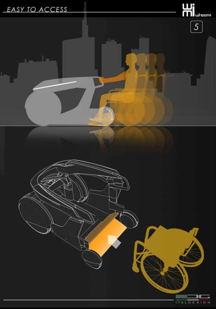 WheeM-I, veicolo per disabili, il sistema di ingaggio