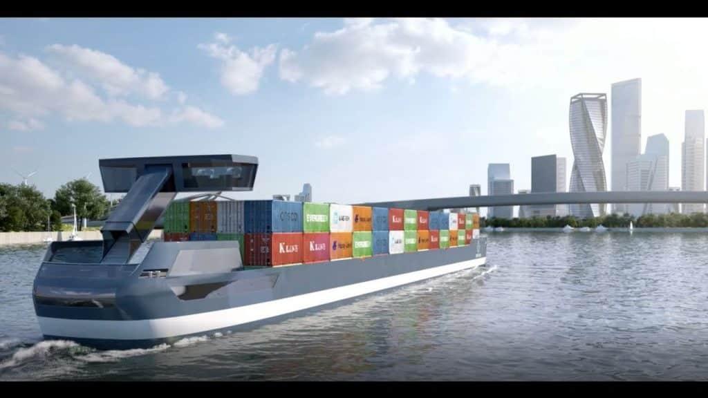 navi elettriche portacontainer
