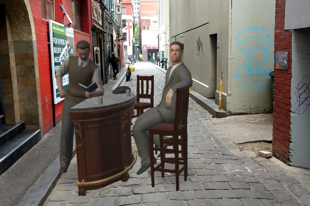 Misadventure in Little Lon, the crime game in augmented reality