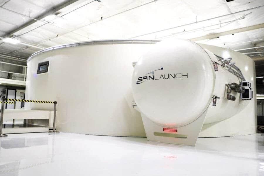 Spinlaunch, un prototipo di centrifuga