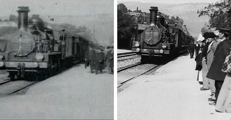 1895, una AI converte il film in 4K