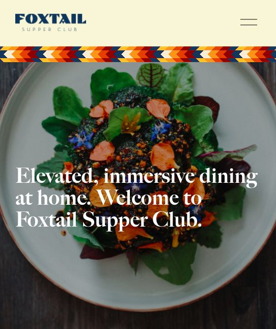 foxtail Supper Club, ristorante a distanza per cene virtuali