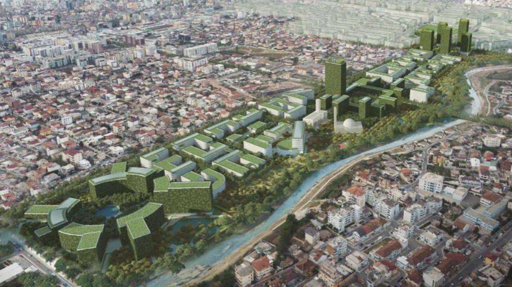 Tirana Riverside, un distretto resistente al coronavirus