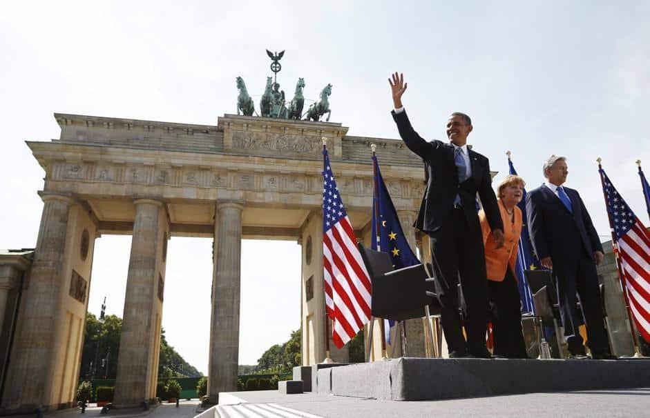 Declino USA, Obama alla Porta di Brandeburgo