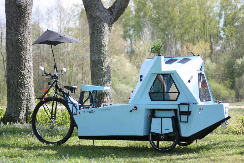 Z-Triton: trike, tiny house e barchetta