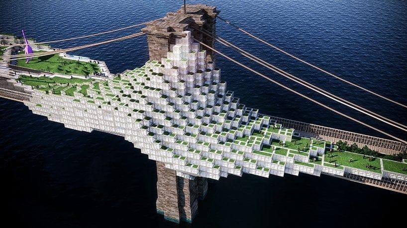 Brooklyn Bluff, una infrastruttura vivente che ripensa il ponte di New York