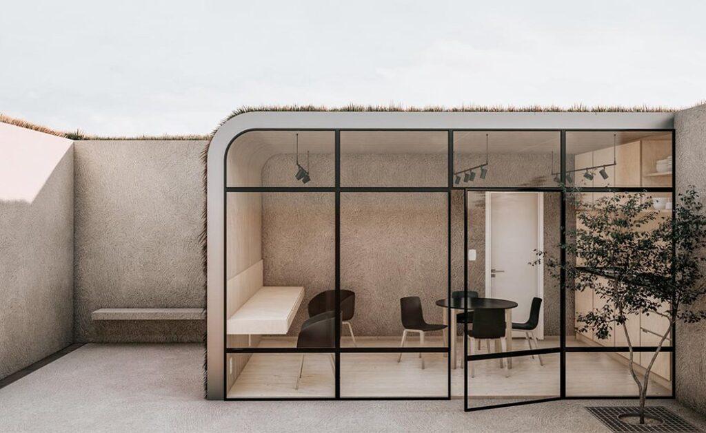 Sunken Studio, lavorare da casa in un ufficio domestico