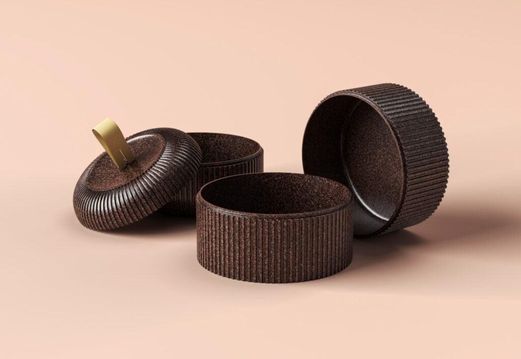 Remade, fave di cacao riciclate per contenitori da asporto