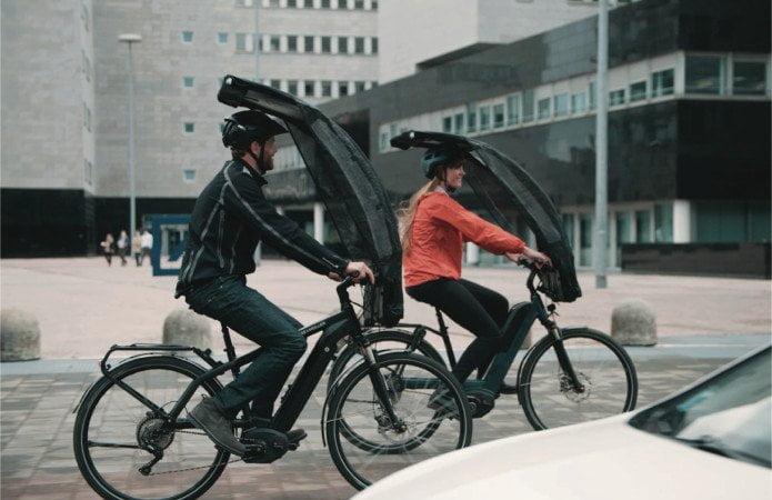 BikerTop, ombrello istantaneo per bici