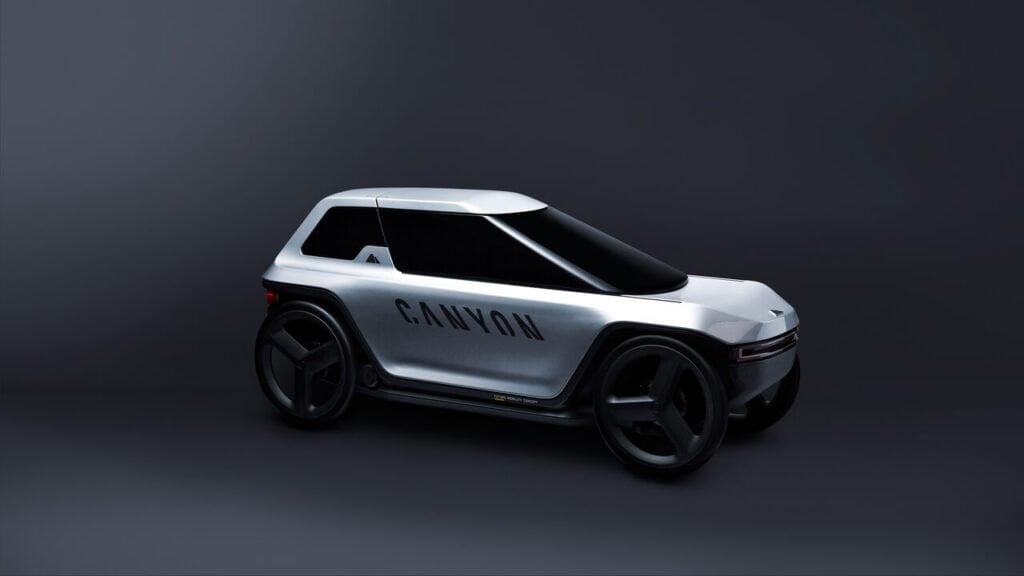 Future Mobility Concept, un po' auto e un po' bicicletta reclinata elettrica