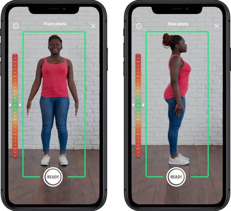 Mobile Tailor raccoglie le misure del corpo a partire da due foto