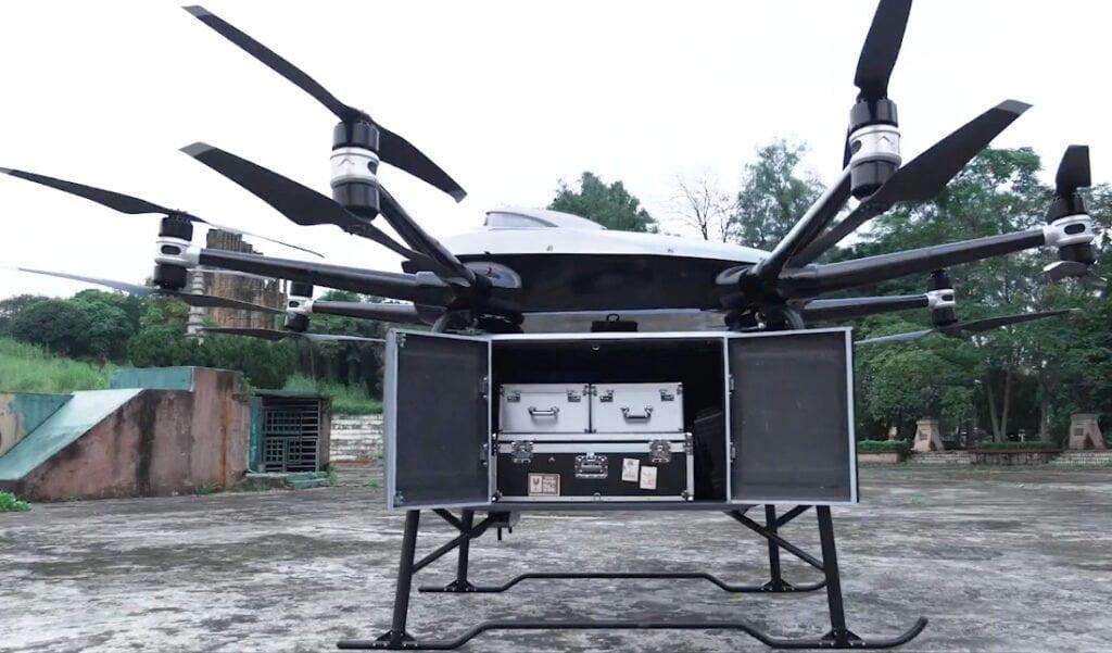drone da consegne EHang, un carico record da quasi 200kg