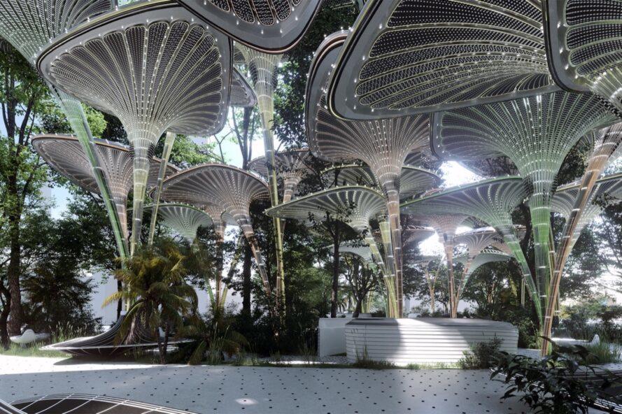 Oasys, oasi urbana ad energia solare in Abu Dhabi