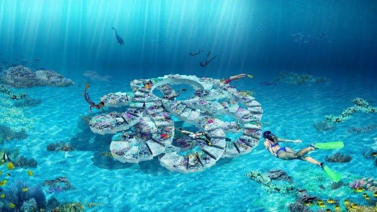 ReefLine, parco pubblico sottomarino a Miami che fa anche da barriera corallina artificiale