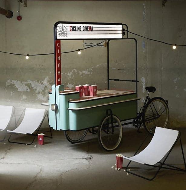 smartfun Cycling cinema, bici per cinema all'aperto e street fun