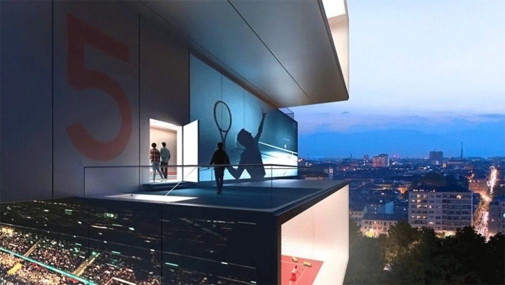 Playscraper, grattacielo da tennis di Carlo Ratti
