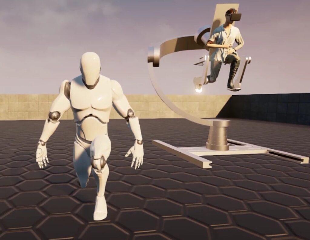 Holotron, esoscheletro per camminare in realtà virtuale