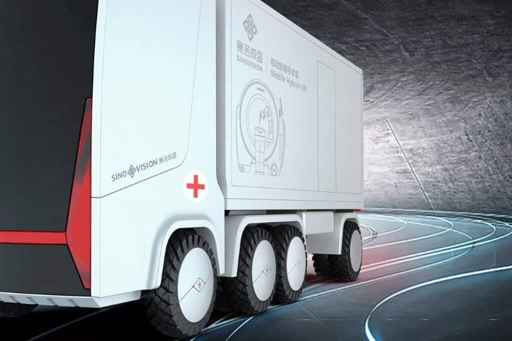 ospedale mobile su ruote