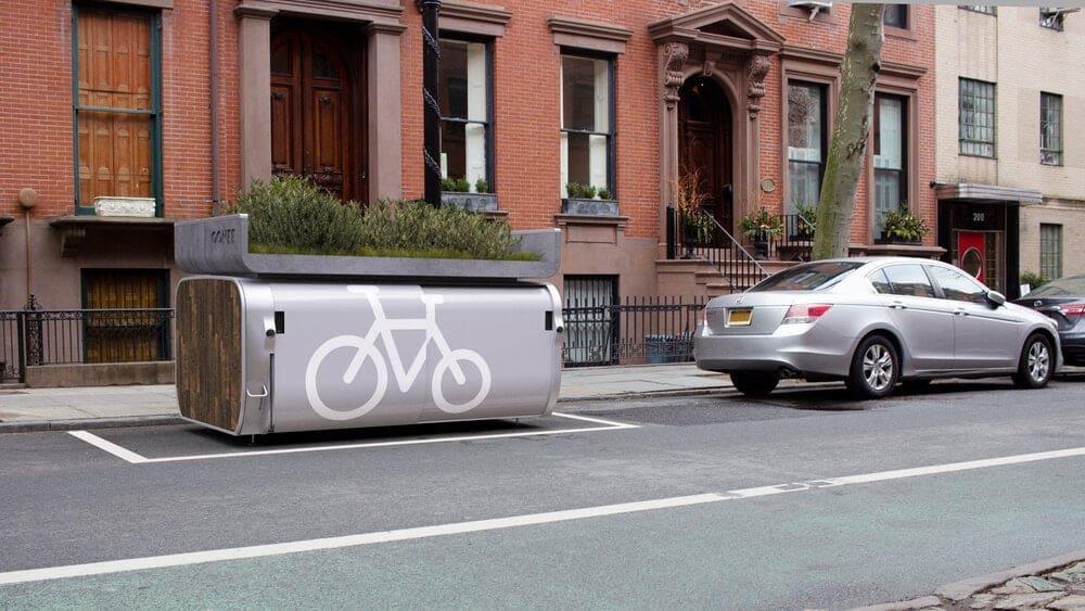 10 bici in un posto auto