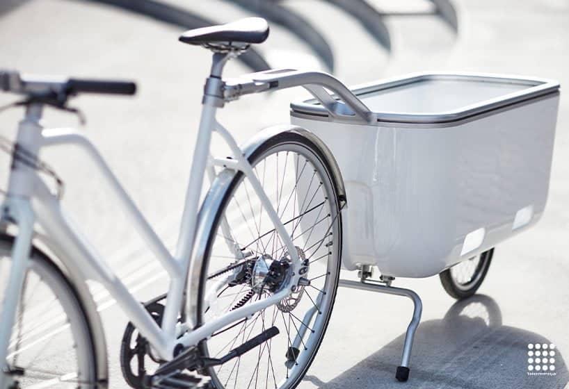Rimorchio per bici