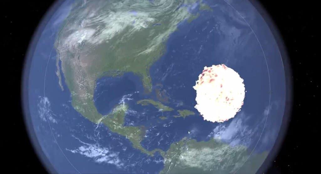 Simulazione asteroide