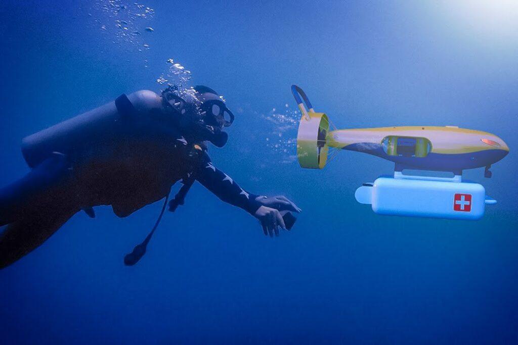 Drone subacqueo di salvataggio