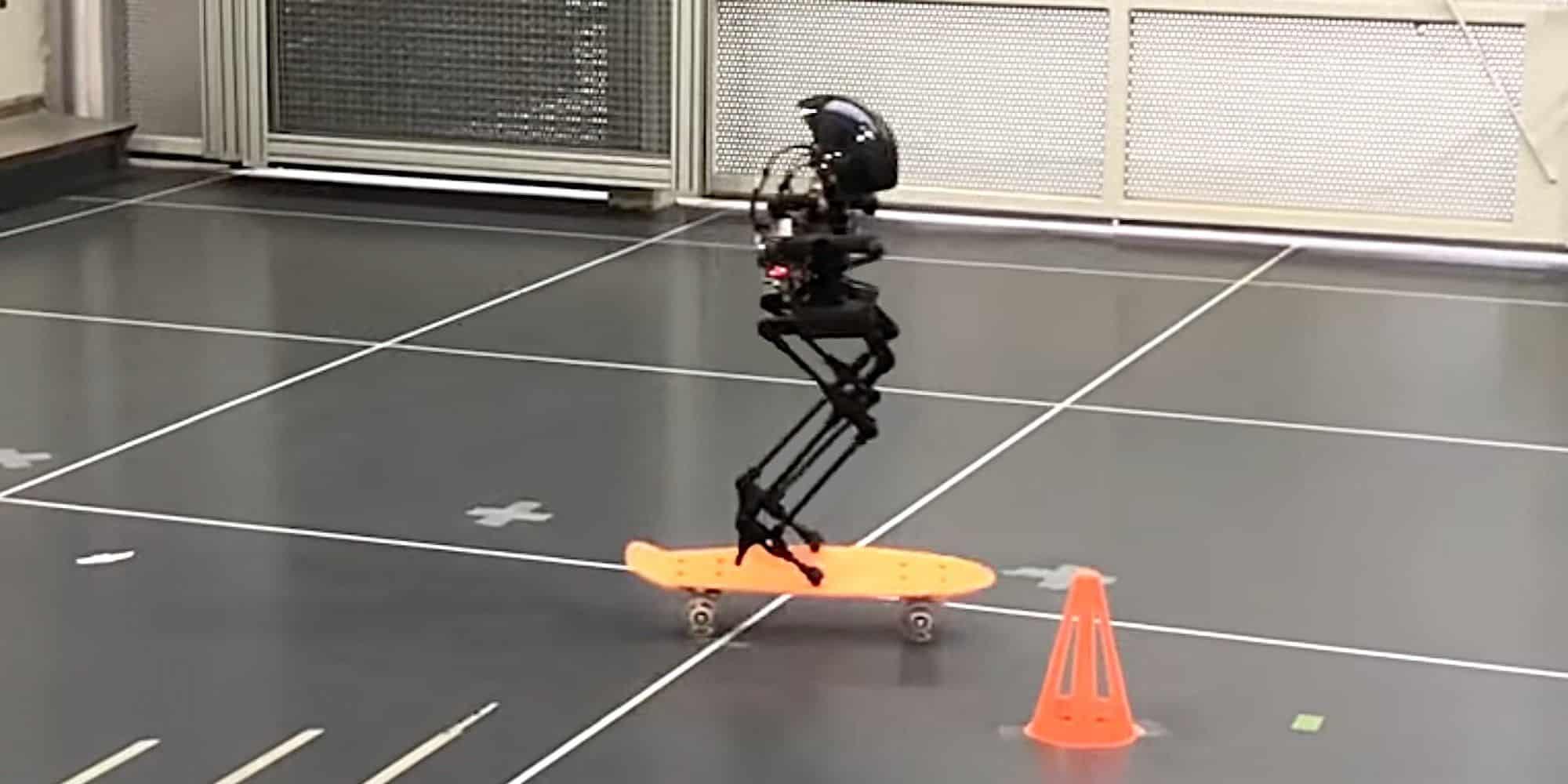 LEONARDO, el robot bípedo exagera: vuela, camina y patina